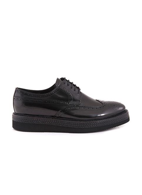 Mocassini %100 Deri Oxford Ayakkabı Siyah